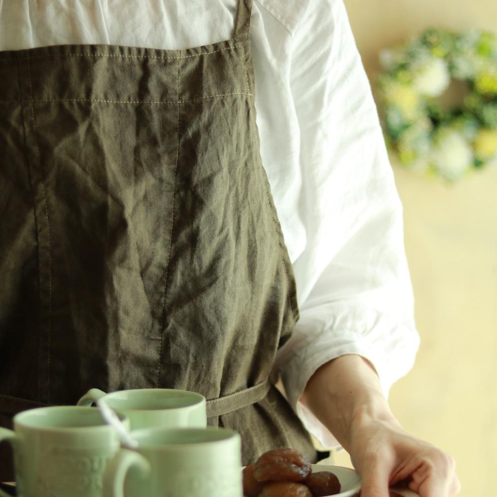 おうちカフェで子どもとゆっくり過ごす日のエプロン♪