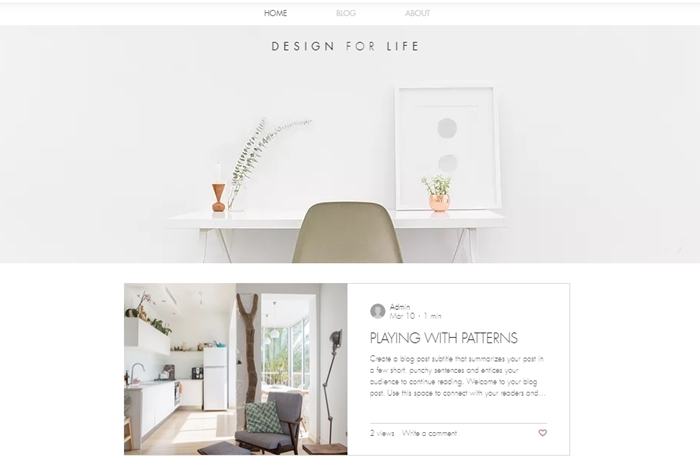 Wix ホームページ